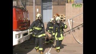 В торгово-офисном центре прошли пожарно-тактические учения МЧС
