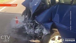 8 белорусов пострадали в ДТП в Украине. Маршрутка врезалась в кран