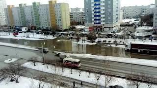 В Кургане затоплен проспект Голикова. Дома и торговые центры Заозерного без воды