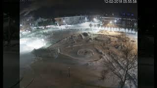 ДТП на пл  Юности ночь 12.02.18