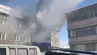 Пожар на улице 2-я Пионерская в Луговом