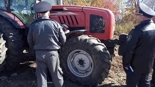 Задержание нелегального китайского трактора под Хабаровском