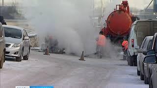Коммунальщики рассказали о причинах порыва теплотрассы на улице Парашютной