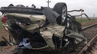Смертельная авария: возле Энергодара авто вылетело на железнодорожные пути