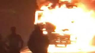 Фура загорелась на одной из трасс Ставрополья