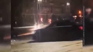 Ростовские каскадёры устроили дрифт на скользкой дороге в центре города