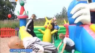 Пожарные подарили детям игровую площадку в Усть Куте
