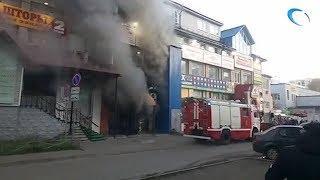 В кафе «13 район» в торговом центре «Барк» случился пожар