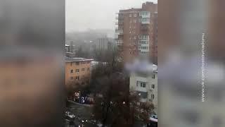 В Ростове из-за пожара эвакуировали людей из студенческого общежития