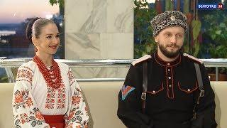 Кубанский казачий хор в Волгограде. Интервью. Виктор Сорокин и Евгения Джевага
