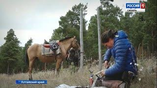 Путешествующая на лошадях жительница Италии сделала остановку в Сибири