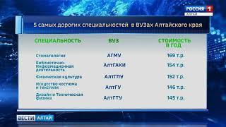Пять самых дорогих направлений подготовки в вузах Алтайского края