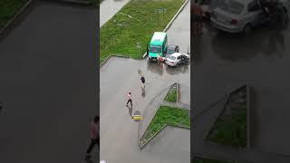 Новосибирск. ДТП на Чистой Слободе (часть 1).