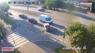 ДТП Бийск на перекрестке ул. Васильева - 8 Марта 30.07.2018