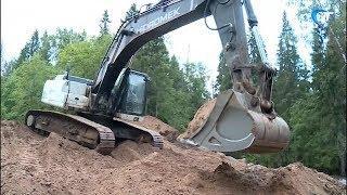 Восстановление дорог в Новгородской области, размытых весенним паводком, продолжается