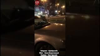Автомобиль НАЦГВАРДИИ с пьяными людьми внутри чуть дважды не попал в ДТП и скрылся