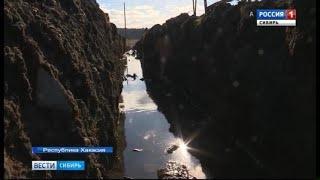 Деревню в Хакасии топит грунтовыми водами