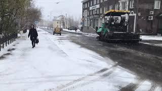 Укладка асфальта в снег-2