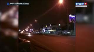 Дикая лиса гуляла по ночной Костроме