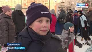 В Архангельске прошёл чемпионат по хоккею с мячом среди дворовых команд