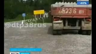 На трассе «Байкал» перевернулась фура
