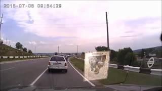 Лобовое столкновение при ДТП.