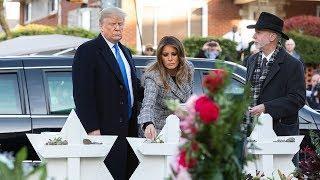 «Пожелания ближайших родственников». Почему Трамп несмотря ни на что посетил синагогу в Питтсбурге