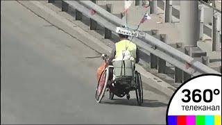 Путешественник без ног и рук добрался из Санкт-Петербурга во Владивосток на хэндбайке