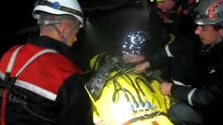 Уникальная операция по спасению пострадавшего из обводненной пещеры