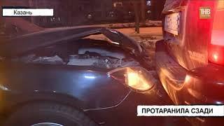 Автоледи, управлявшая  Маздой третьей модели, въехала в Джип на улице Комиссара Габишева - ТНВ