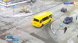 В Бийске на одном перекрёстке произошли две аварии из-за знака «Уступи дорогу»