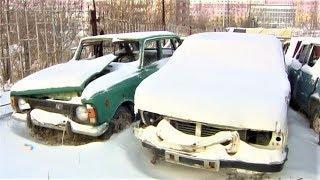 В Нижневартовске массово вывозят из дворов брошенные машины