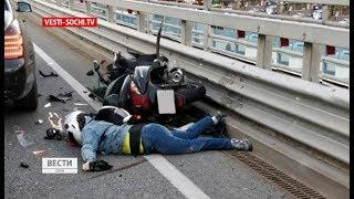 Водитель мопеда погибла в ДТП в Сочи
