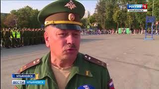 Репетиция парада к 100-летию Танкового училища