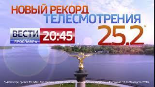 Новый рекорд телесмотрения Вести-Ярославль!