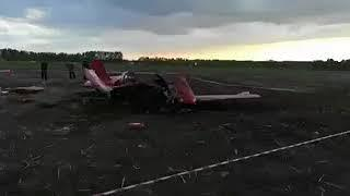 Крушение самолёта Як-52 в Алтайском крае.