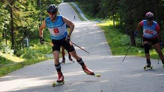 Участники КМ по лыжероллерам обкатывают трассу в Ханты-Мансийске