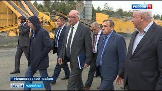 Александр Евстифеев посетил производственную базу «Марий Эл Дорстрой»