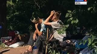В Кирове за школой №60 поселились бомжи (ГТРК Вятка)