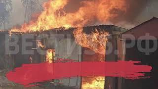 4 гаража сгорели в Кирилловском районе