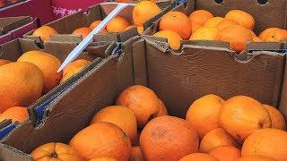 В сургутском аэропорту сожгли овощи и фрукты из Азербайджана и Таджикистана