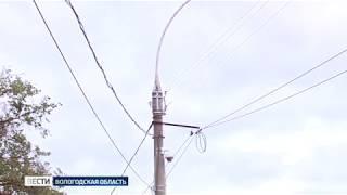 Из-за сильного ветра в некоторых районах области произошли обрывы ЛЭП