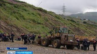 Утечка нефтепродуктов в бухте Нагаева