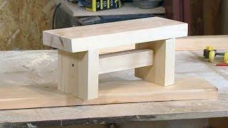 Как сделать скамейку для ребенка своими руками