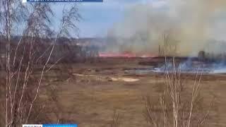В Канске снова горят свалки отходов лесопереработки