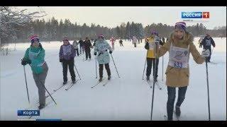 В Марий Эл на «Лыжню России» вышли около 10 тысяч любителей спорта - Вести Марий Эл