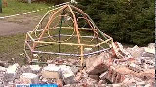 """Кирпичный забор, упавший на детскую площадку, принадлежит стадиону """"Балтика"""""""
