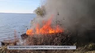 В Угличе сгорели два лодочных гаража