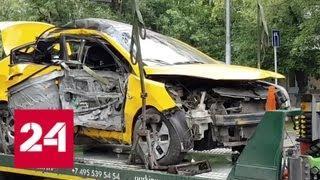 Водитель въехавшего в столб такси мог уснуть за рулем - Россия 24