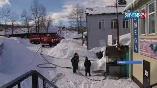 Часть города Алдана обесточена из-за схода снега